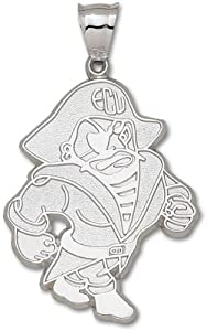 East Carolina University Petey Giant Pendant 2 Inch - Sterling Silver by Logo Art