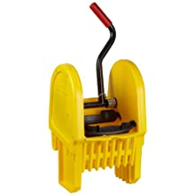 "Rubbermaid Commercial FG757588 Down Press Wringer for WaveBrake Buckets, 16 - 32 oz Capacity, 13.5"" Length x 13.2"" Width x 27"" Height, Yellow"