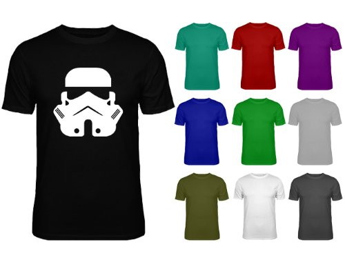 Mens Storm Trooper Face Star Wars T-shirt