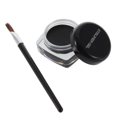 YKS Black Professional Waterproof Long Lasting Eye Liner Eyeliner Eye Shadow Curd Gel Makeup Cosmetic Pro + Brush from YKS