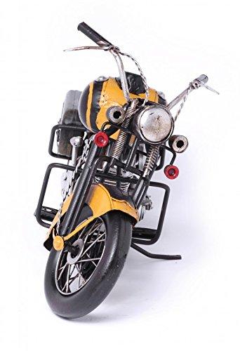 Model Motorcycle - Harley Classic yellow - Retro Tin Model