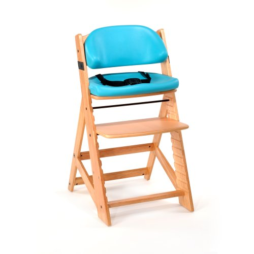 Keekaroo Height Right Kids High Chair With Comfort Cushions, Natural/Aqua