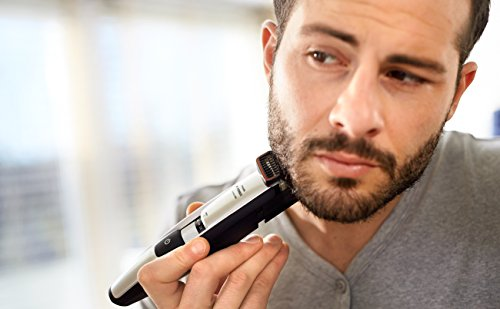 philips norelco beard head trimmer series 5100 17 built in length settings hair clipping. Black Bedroom Furniture Sets. Home Design Ideas