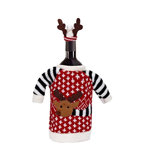 [Bottle Cover, Yasalu Red Wine Bottle Cover Santa Claus Christmas Bags Decoration Home Party] (Peacock Spider Costume)