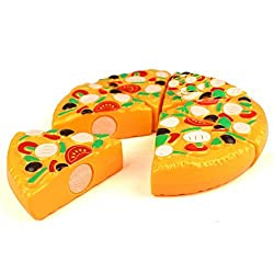 Cutting Plastic Pizza PLay Food Toy YIFAN Kitchen Pretend Play Toy Early Development and Education Toy for Baby Kids Children