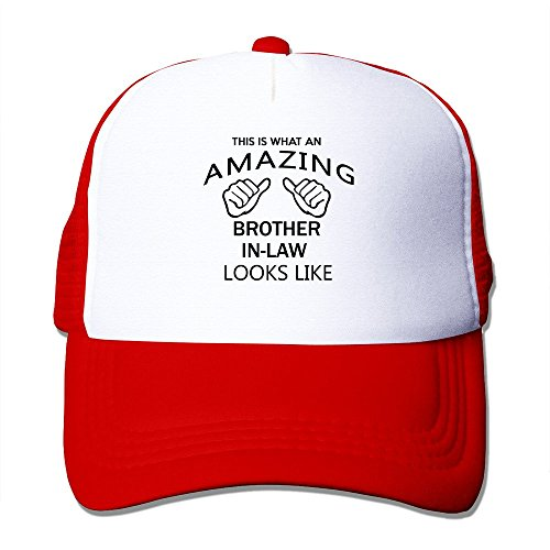 cap-d-factory-mens-cap-amazing-brother-in-law-classic-trucker-hat-red