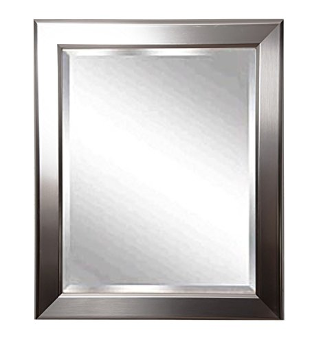 """Rayne Home Décor Silver Rounded Wall Mirror 32""""X 36"""" front-449214"""