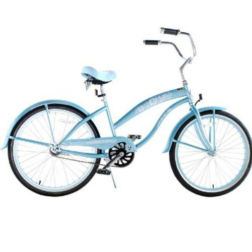 Kids bike girls baby blue extended frame beach cruiser 24 inch