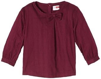 NAME IT Baby - Mädchen Hemd 13092057 PIMINE MINI LS SHIRT, Gr. 92, Rot (Grape Wine)