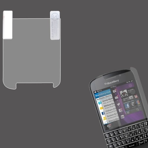 Cell Accessories For Less (Tm) Blackberry Q10 Anti-Grease Lcd Screen Protector/Clear + Bundle (Stylus & Micro Cleaning Cloth) - By Thetargetbuys