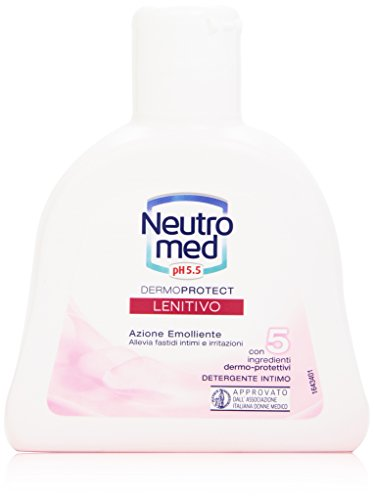 Neutromed - Detergente Intimo, Lenitivo, con 5 ingredienti dermo-protettivi, pH 5.5 -  200 ml
