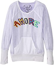 Dirtee Hollywood Big Girls39 Amore Embroidered Tie Dye Raglan