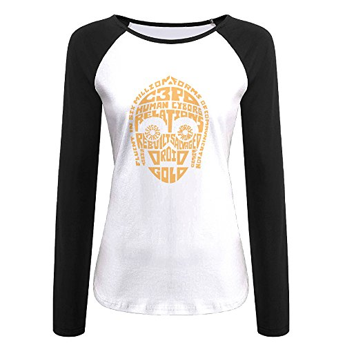Creamfly Womens C-3PO Quotes Long Sleeve Raglan Baseball Tshirt XL (Princeton Bumper Sticker compare prices)
