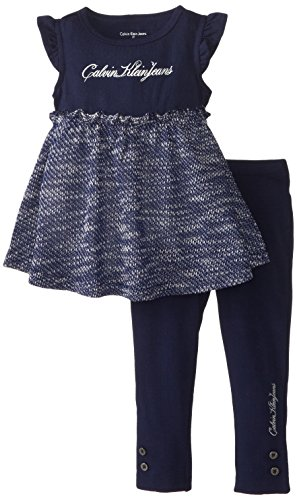 Calvin Klein Little Girls' Print Tunic Leggings,