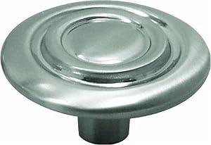 Hickory Hardware P121-SN 1-3/8-Inch Cavalier Knob, Satin Nickel