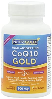 Nutrigold CoQ10 Gold (High Absorption) (Clinically-proven KanekaQ10), 100 mg