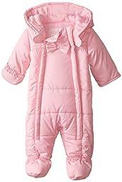 Pistachio Baby-Girls Newborn Embossed Ruffle Trim Pram, Pink, 3/6 Months