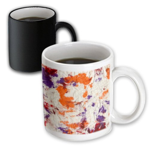 Susans Zoo Crew Abstract - Orange Purple Red Wrinkled Paper Towel - 11Oz Magic Transforming Mug (Mug_162217_3)