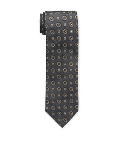 Bruno Piattelli Men's Classic Medallion Tie, Brown