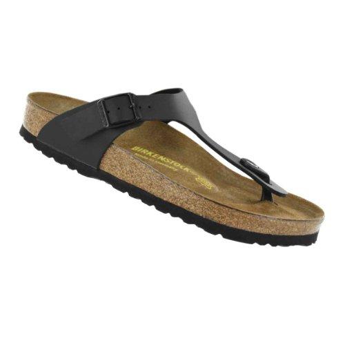 Birkenstock Women'S Gizeh Cork Footbed Thong Sandal Black 38 M Eu front-951411