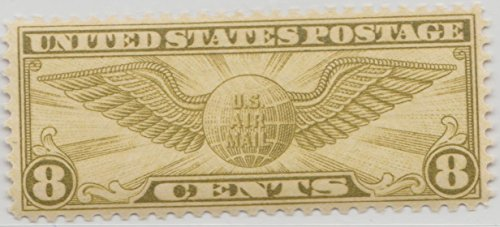 Stamp Air Mail U.S. Transatlantic Issue Globe And Wings C17 - 1