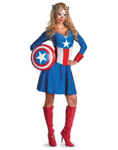 Womens Female Captain America American Dream Costume