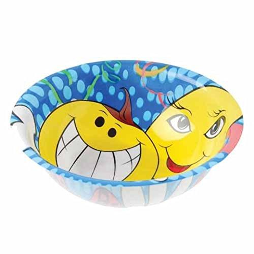 Dozen Smile Smiley Face Design Plastic Party Bowls