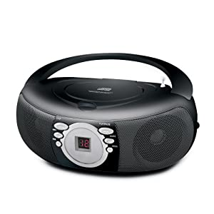 Coby MPCD285 Portable MP3/CD Stereo with AM/FM Stereo Tuner (Black)