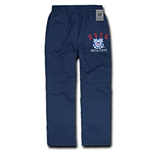 Rapiddominance US Coast Guard Fleece Pant, Navy, Medium