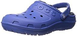 crocs Hilo Lined Clog (Toddler/Little Kid), Sea Blue/Navy, 9 M US Toddler