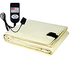 Winter Care Automatic Double Bed Electric Blanket (Throw/Under Blanket) - Ivory (72 X 60 Inches)