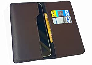 nKarta TM OD Choclate Brown Flip Flap Wallet Pouch Mobile Cover Case with Card holder Slots for Micromax A106 Unite 2