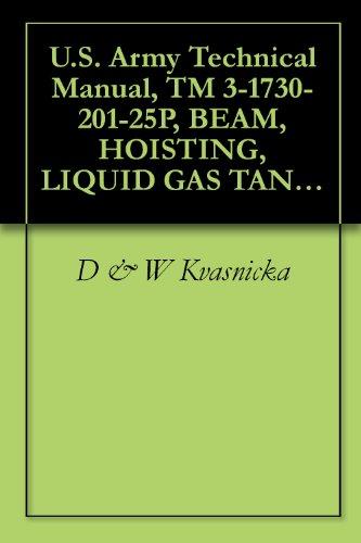 U.S. Army Technical Manual, Tm 3-1730-201-25P, Beam, Hoisting, Liquid Gas Tank, M1, 1963