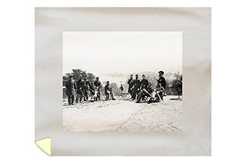 drewrys-bluff-va-gen-henry-abbot-and-staff-civil-war-photograph-88x104-king-microfiber-duvet-cover