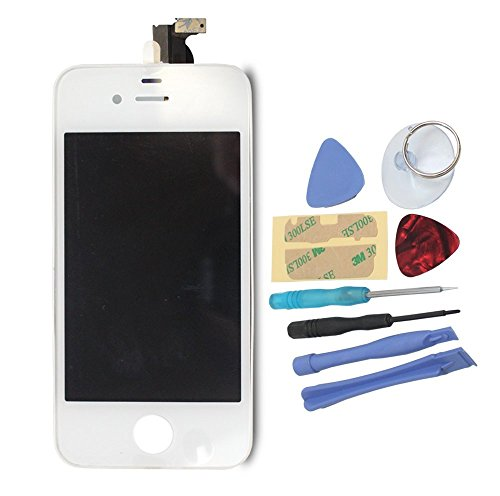 Mimi® Touchscreen Replacement For White Apple Iphone 4 Cdma Verizon Sprint Model A1349 Touch Screen Digitizer And Lcd Display Assembly + Tool Kit