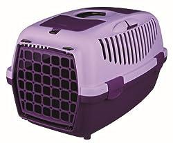 Trixie Capri Pet Carrier (22 x 15 x 13 inch, Violet)