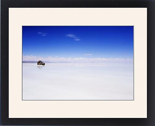 Framed Print Of Four Wheel Drive (4Wd) Tour Group On Salir De Uyuni, Salt Flats, Bolivia, South