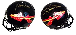 Jimbo Fisher & Bobby Bowden Signed Florida State Seminoles Full Size Riddell... by Sports Memorabilia