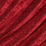 Red Crushed Velvet Fabric