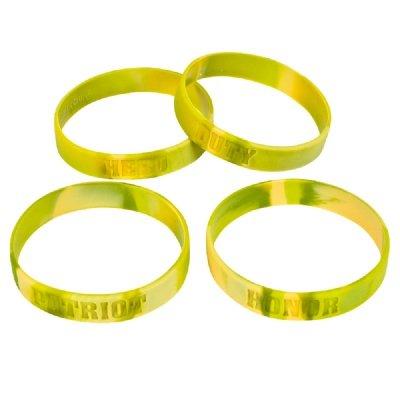 8-Inch Camouflage Silicone Bracelet (Bulk Pack Of 12 Bracelets) front-815380