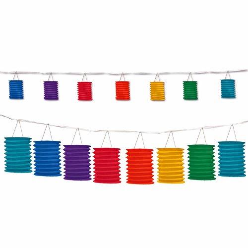 Group Cross Culture Rainbow Garland Lantern