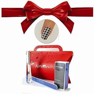 Le clou Dépouille la Trousse Black & White+ le Pétrole de Cuticule de Swisa + la Trousse de Clou d'UN-viva - le Tampon + le Dossier de Clou Ecologique + la Boîte cadeau Rouge