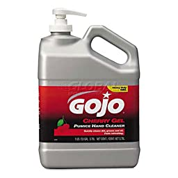 Gojo 2358-02 Cherry Gel Pumice Hand Cleaner Pump Bottle - 1 Gallon, (Pack of 2)