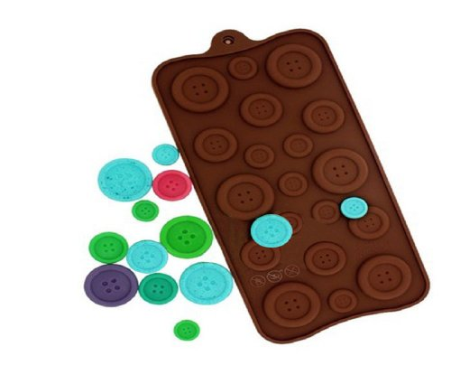 Tpt Hot Funny Lovely Button Chocolates Candy Cake Jelly Topper Silicone Diy Bakeware front-448862