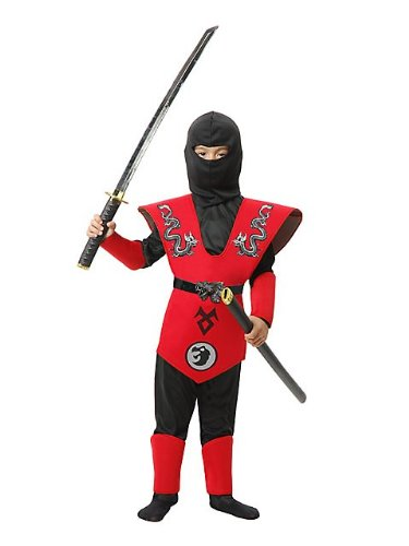 Twin Dragon Ninja Master Kids Costume