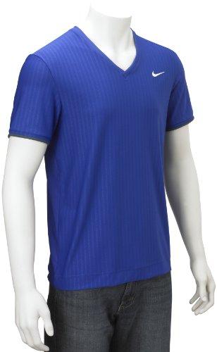Nike Mens Short Sleeve V-Neck Fit Dry Top