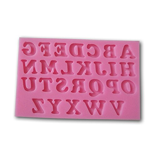 Allforhome 26 Uppercase Letters Alphabet Shaped 3d Silicone Cake Fondant Mold Cake Decoration Tools Soap Candle Moulds