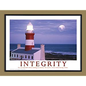 Framed Inspirational  on Amazon Com  Integrity Motivational Framed Poster  Inspirational Art