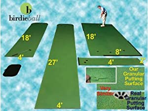 RollTech 9'x2' Indoor Golf Putting Green w/2 Cups & 2 Extraction
