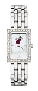 Miami Heat Ladies Allure Sterling Silver Watch Bracelet by Logo Art
